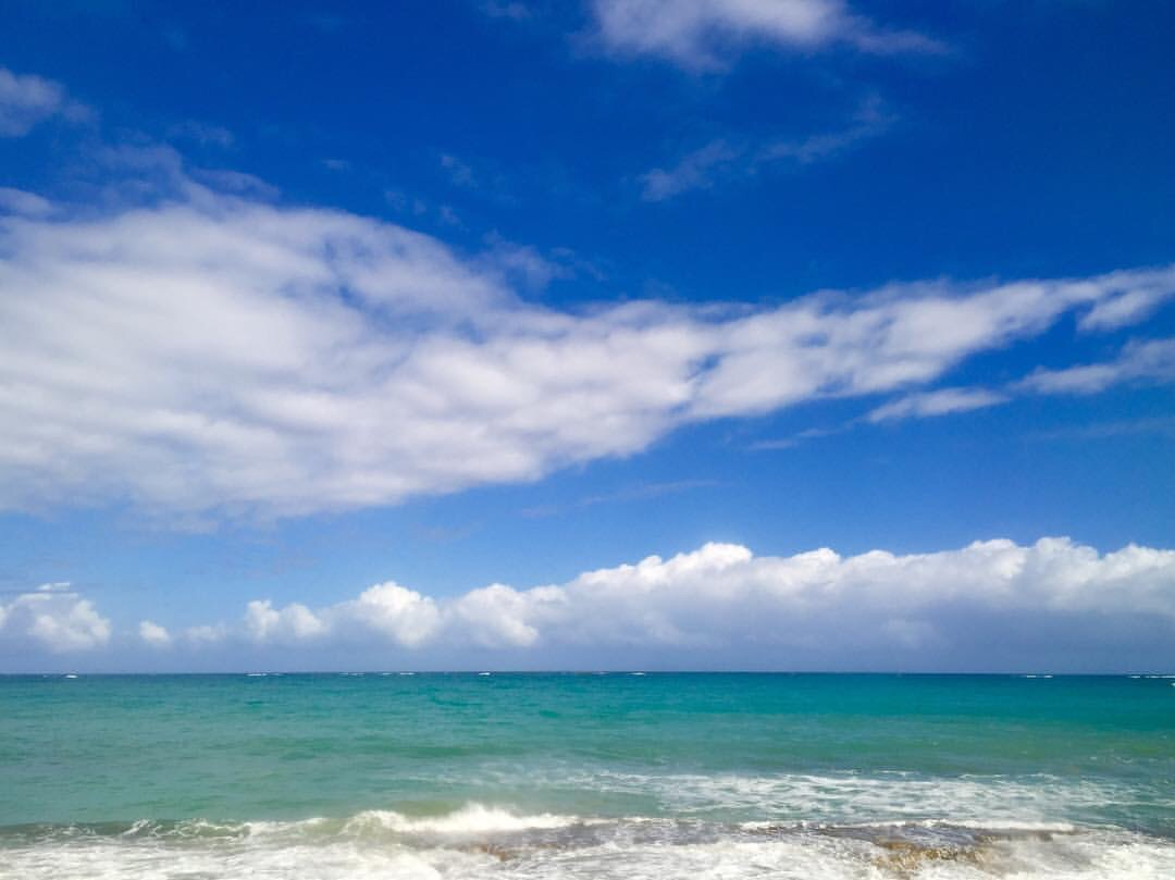 Ocean and sky in Puerto Rico