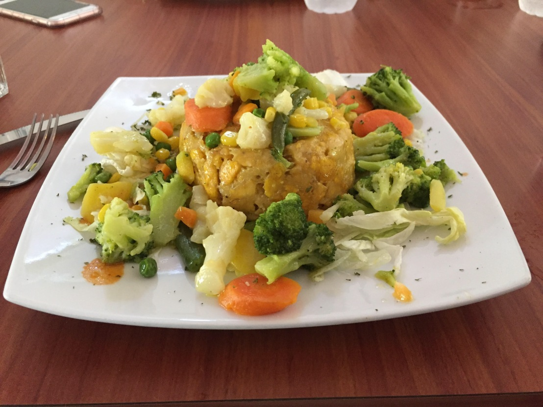 Mofongo with vegetables